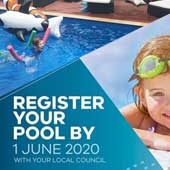 Register your pool or spa with your local council by 1 June 2020