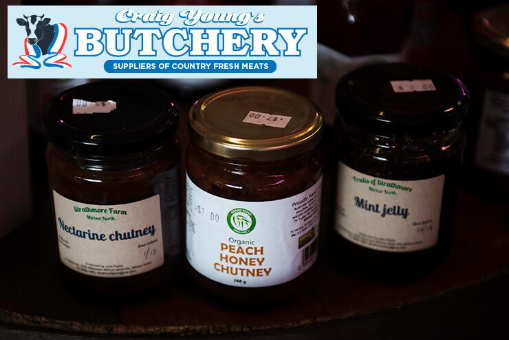 Check out our great chutneys at Craig Young's Butchery in Mirboo North