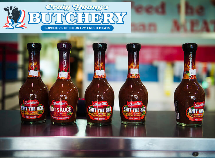 Tasty HOT sauces at Craig Young's Butchery in Mirboo North