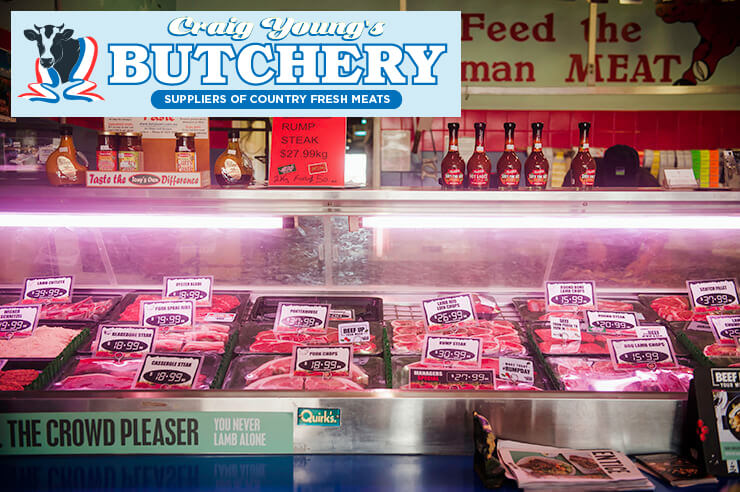 Inside Craig Young's Butchery in Mirboo North shop - renowned local butcher