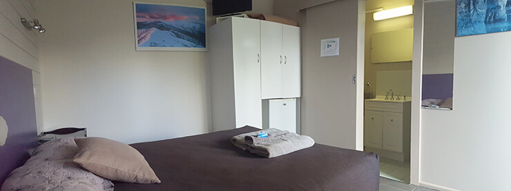 View of room 1 of the Meeniyan Motel showing ensuite - accommodation near Wilsons Promontory and the Great Southern Rail Trail with bike hire