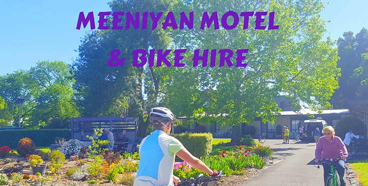 Meeniyan Motel has bike hire for the Great Southern Rail Trail