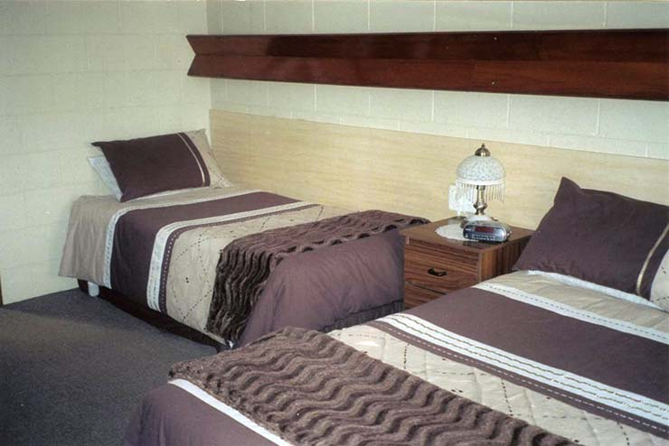 View with second bed at the Morwell Parkside Motel - accommodation in the CBD