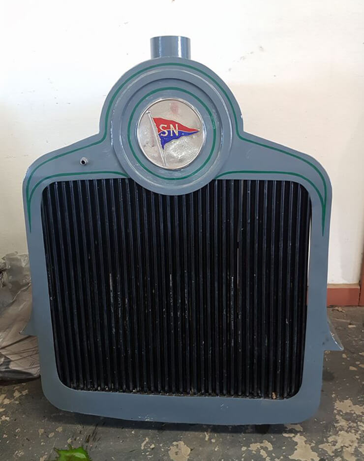 This was a very rare French vintage car radiator, just trying to figure out what it was in, but very happy customer being able to get it reconditioned, no off the shelf parts available anywhere and many radiator shops are not prepared to touch a lot of this type of thing. We love the challenge of custom builds.
